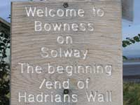 Hadrians Wall start/finish