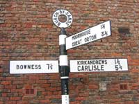 Burgh-by-Sands signpost