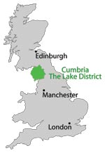 lake district in uk map Cumbria And Lake District Maps lake district in uk map