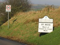 St. Bees Coast to Coast sign